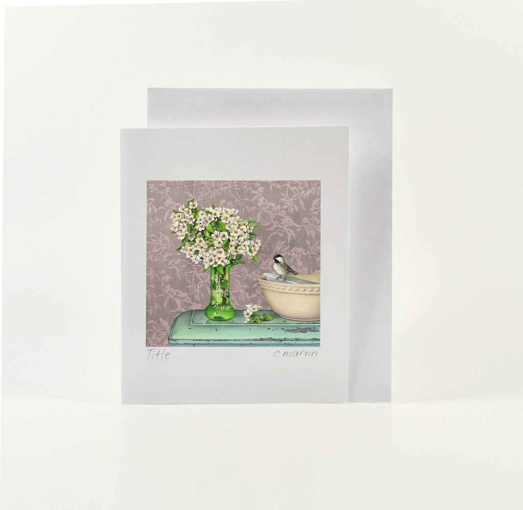 Blossoms, Bird and Bowls - Wholesale Art Cards