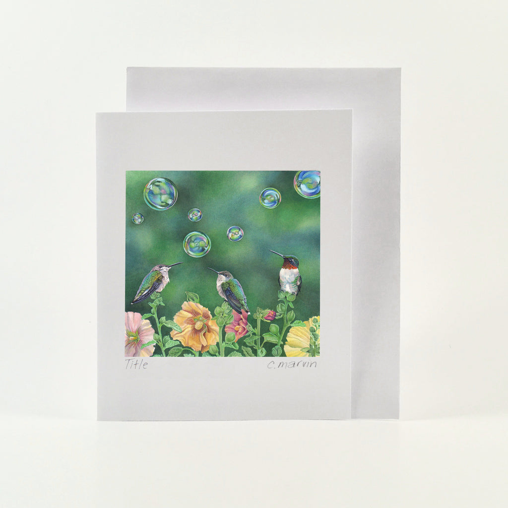 Bubble Birds - Wholesale Art Cards