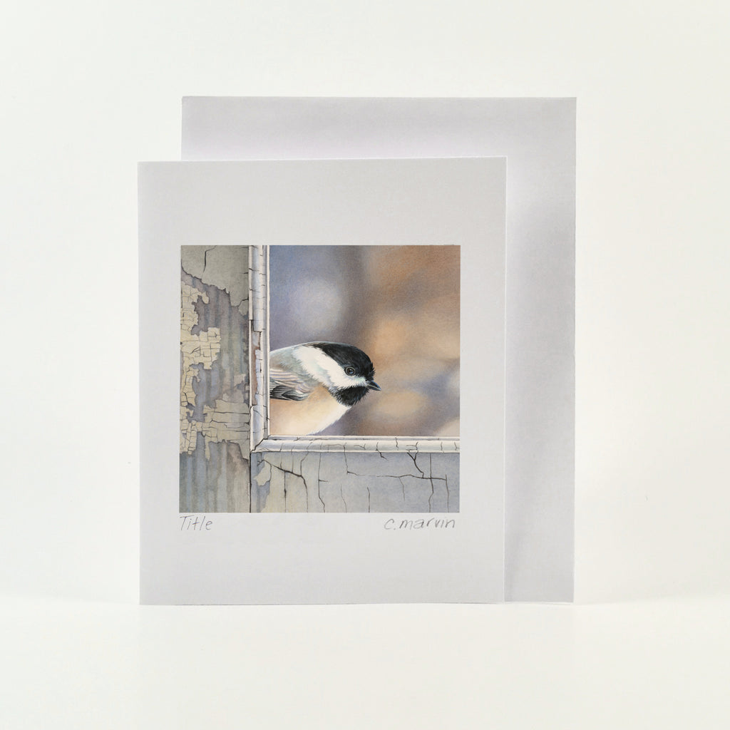 Chickadee Checks In - Wholesale Art Cards