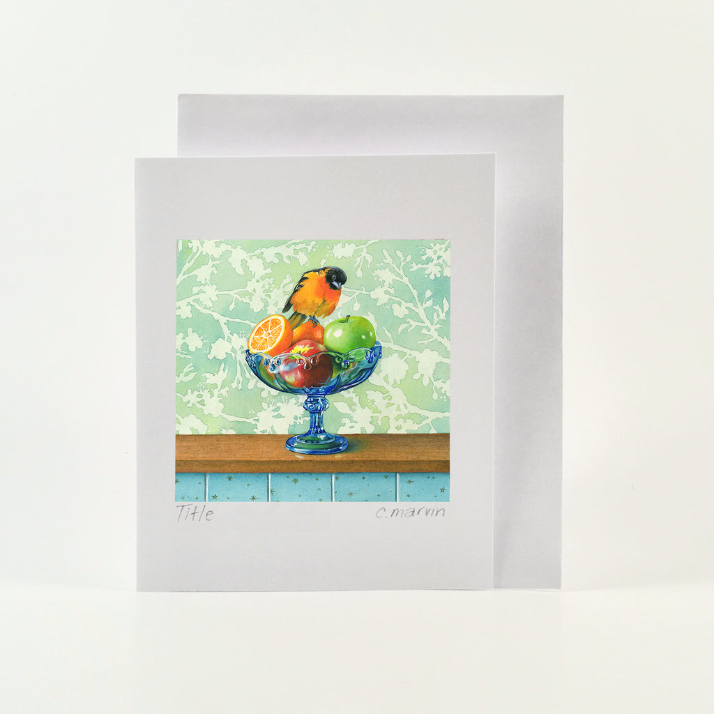 Comparing Apples and Oranges - Wholesale Art Cards