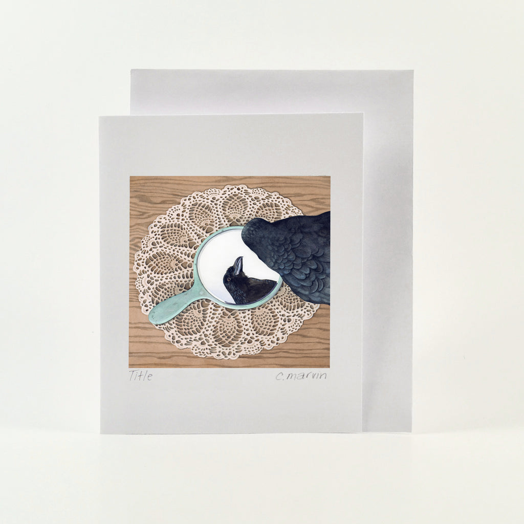 Crow Admires Crow - Wholesale Art Cards