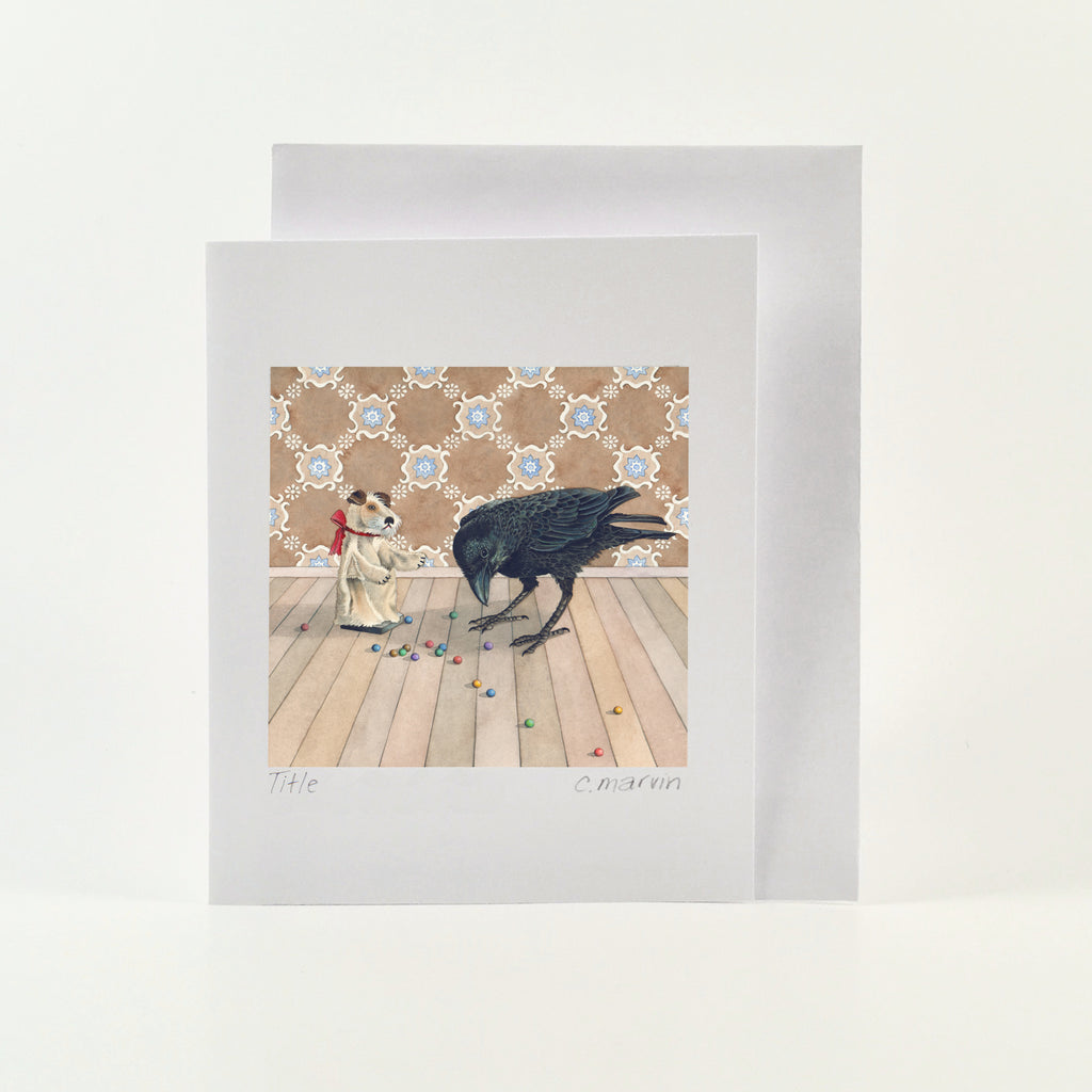 Crow and the Clay Marbles - Wholesale Art Cards
