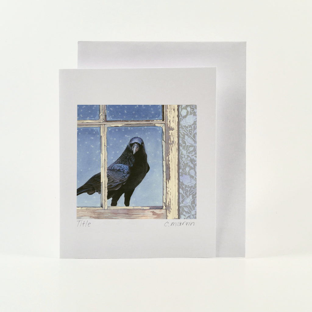 Crow Arrives at Dusk - Wholesale Art Cards