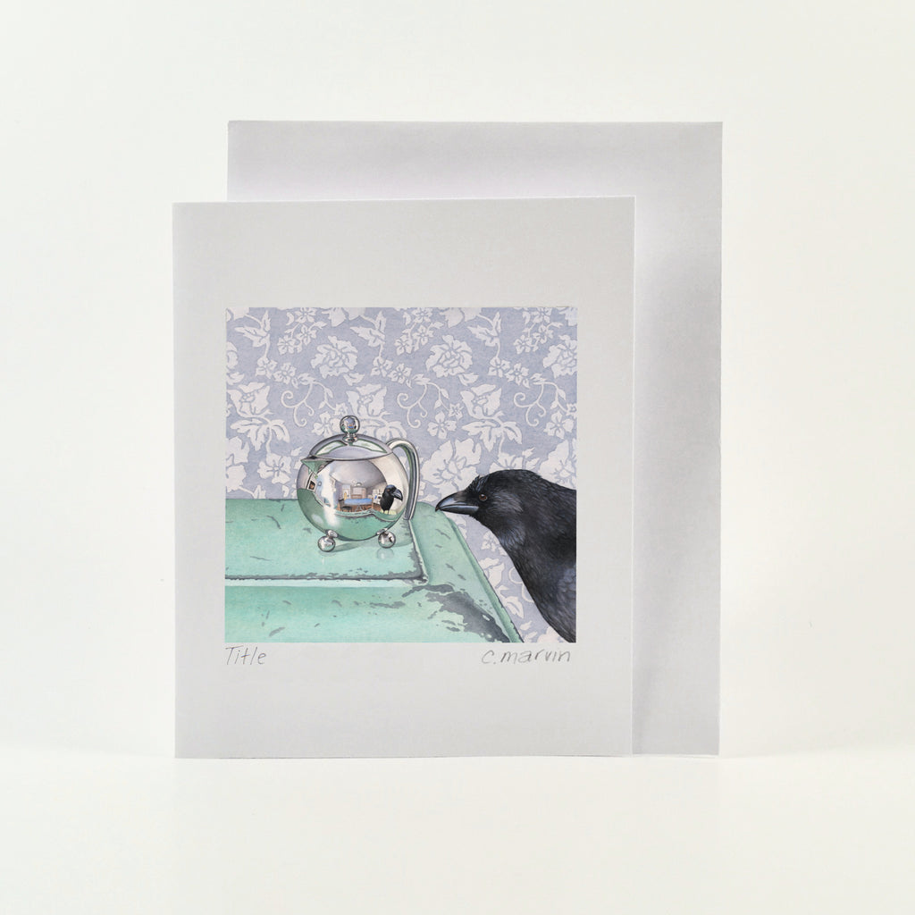 Crow Reflects - Wholesale Art Cards