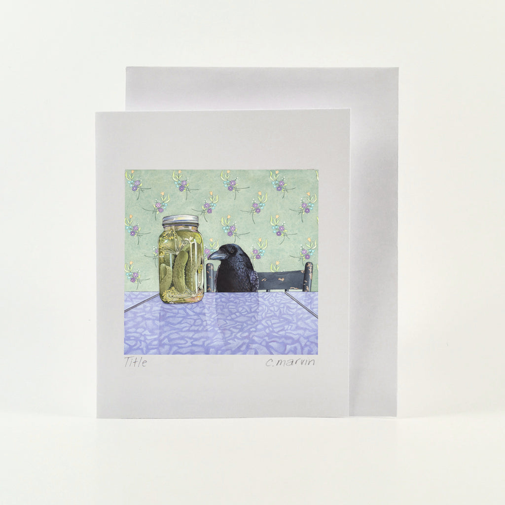 Crow Wants a Pickle - Wholesale Art Cards