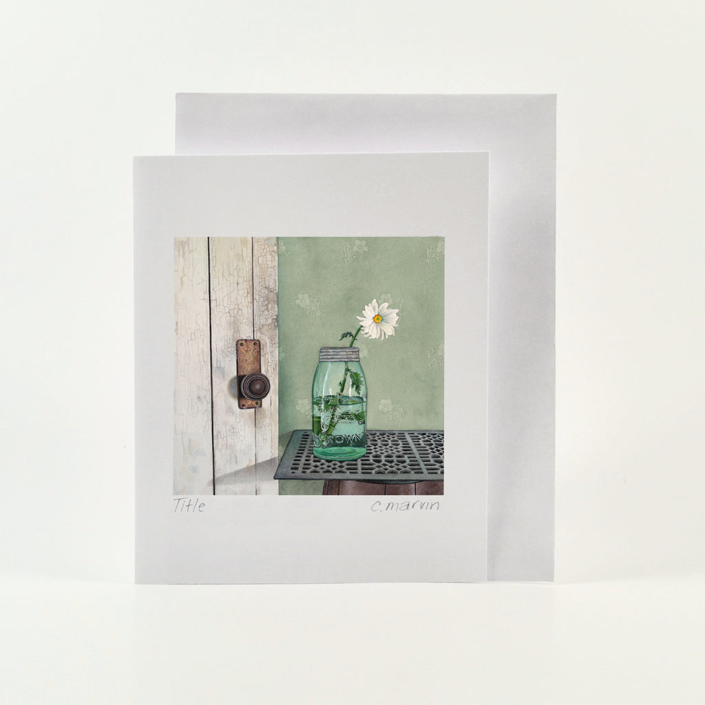 Daisy at the Door - Wholesale Art Cards