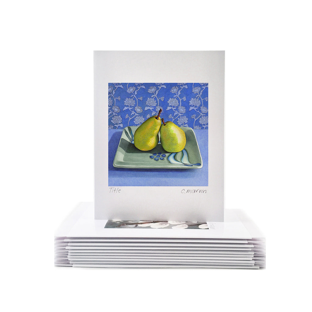 Pear Art Cards set of 10