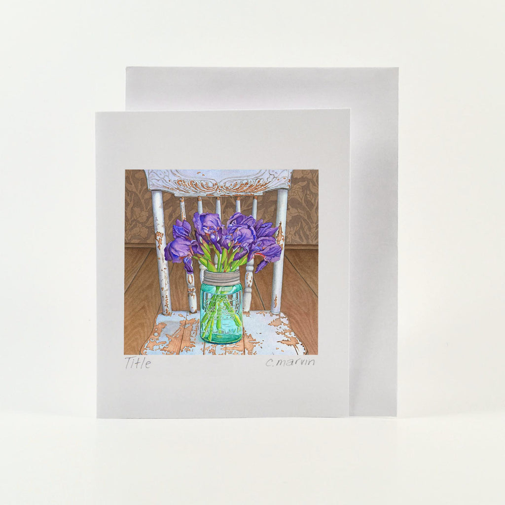 Flower Cards set of 10