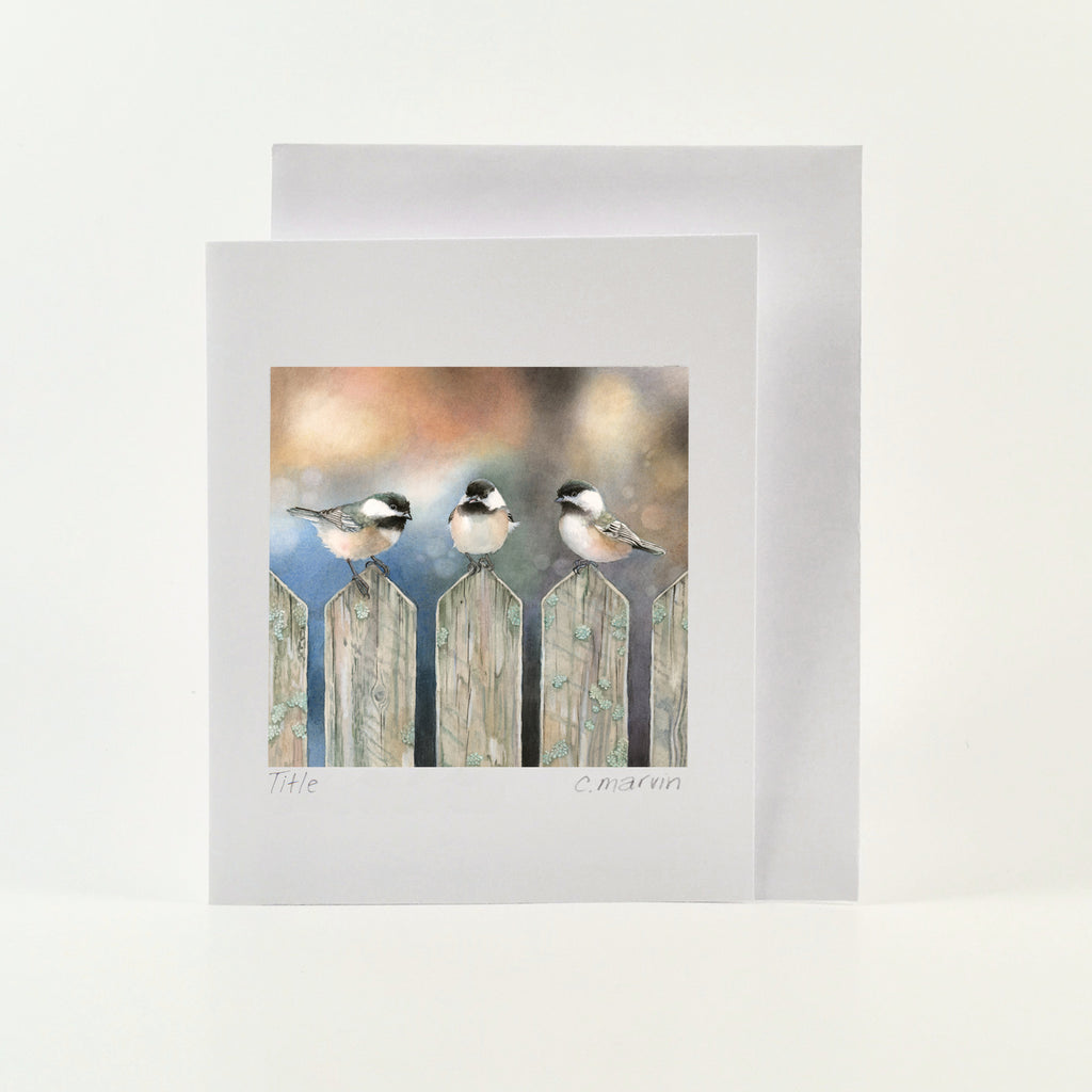 Sitting on the Fence - Wholesale Art Cards
