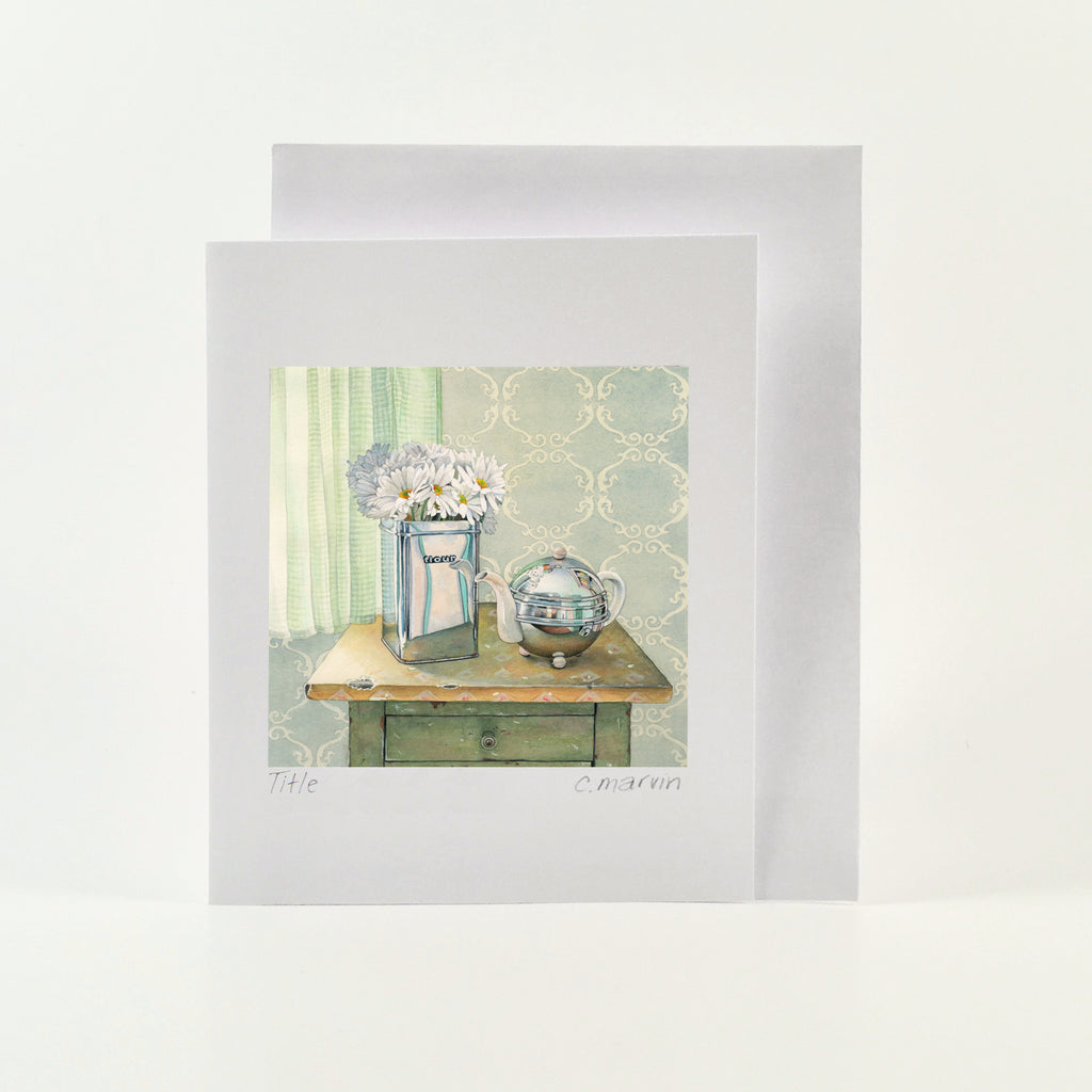 Tea and Daisies - Wholesale Art Cards