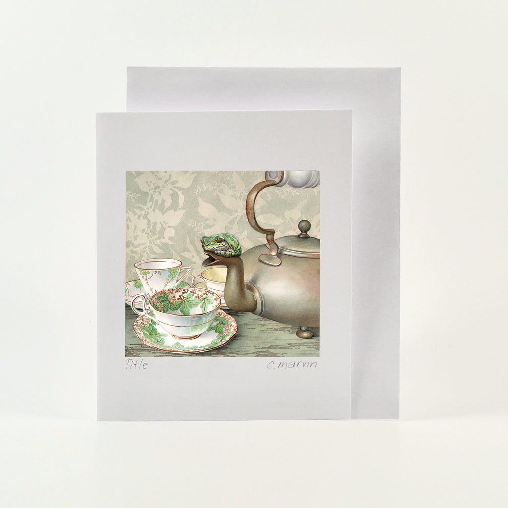 Tea Frog - Wholesale Art Cards