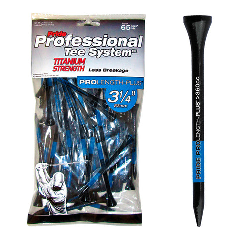 "PTS 3 1/4"" ProLength Titanium Wood Tees - Blue - 65ct"