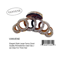 VANVENE Elegant Style Large Fancy Good Quality Rhinestones Claw Clip Jaw Clips For Thick Hair  B010OHFWHY