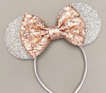 VANVENE Rose Gold Ears,Silver White Ears, Rose Gold Ears, Bride Mouse Ears