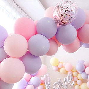 VANVENE 100pcs Pastel Latex Balloons 12  Inches Assorted Rainbow Candy  Colored Party Balloons for Girls  Wedding Birthday Party Baby  Shower Party Supplies