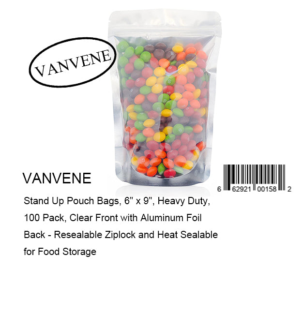 VANVENE Stand Up Pouch Bags, 6