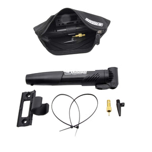VANVENE Mini Bike Pump Portable Nylon [Antic-Static ] with Bike Tool Bag, 120 PSI High Pressure Bicycle Air Pump Fits Presta & Schrader - No Valve Changing Needed, Mount Kits Included  B07WG72T4S