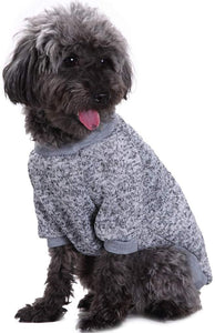 VANVENE Pet Dog Classic Knitwear Sweater Warm Winter Puppy Pet Coat Soft Sweater Clothing for Small Dogs (XS, Grey)