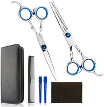 VANVENE Professional Home Hair Cutting  Kit - Quality Home Haircutting  Scissors Barber/Salon/Home  Thinning Shears Kit with Comb  and Case for Men and Women