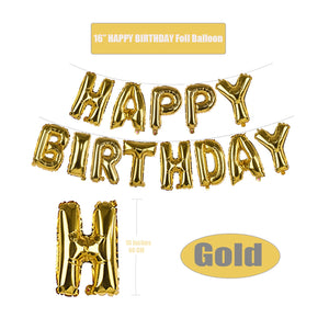 VANVENE Birthday Supplies. Gold Balloon Decoration Set with HAPPY BIRTHDAY Foil Balloon Large Champagne Balloons and Latex Balloons 48Pcs for Birthday Party Supplies