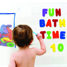 VANVENE Bath Letters and Numbers with  Bath Toy Organizer. Educational  Bath Toys with Premium Bath  Toy Storage