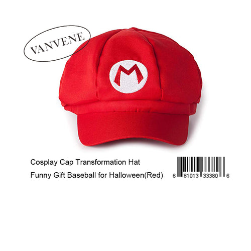 VANVENE  Cosplay Cap Transformation Hat Funny Gift Baseball for Halloween(Red)