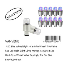 VANVENE LED Bike Wheel Light - Car Bike  Wheel Tire Valve Cap Led Flash Light Lamp  Motion Activated,Led Flash Tyre Wheel Valve  Cap Light for Car Bike Bicycle,10 Pack