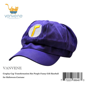 VANVENE Cosplay Cap Transformation Hat Purple Funny Gift Baseball for Halloween Costume