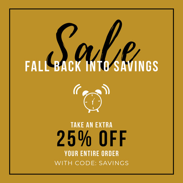 It's time to fall back into savings.