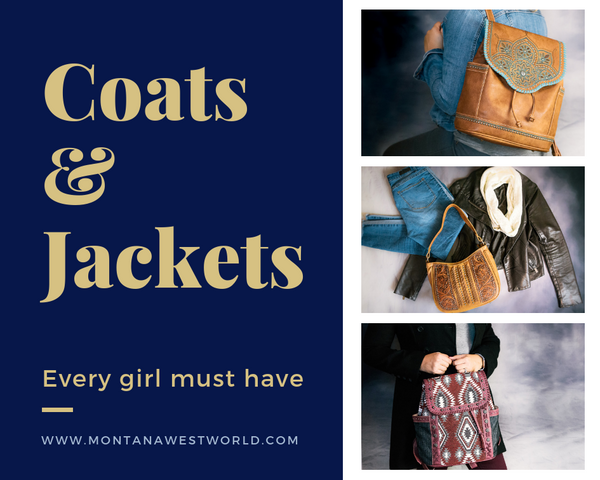 Coats and jackets every girl must have matched to Montana West handbags