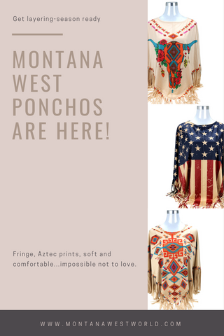 Montana West Ponchos Blog Banner