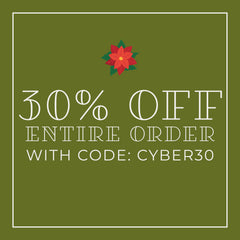 30% off entire order with code: CYBER30