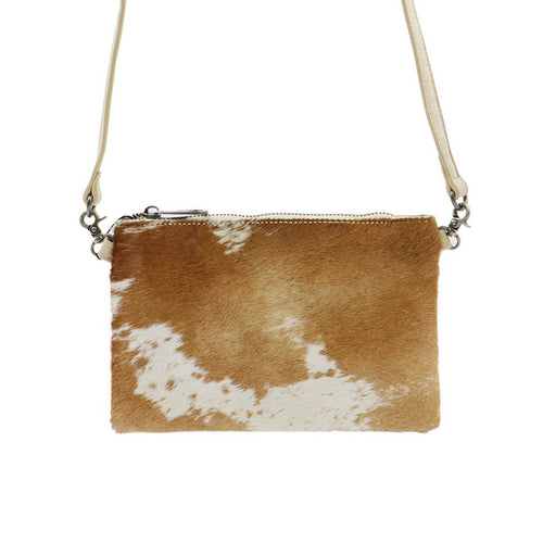 Chrysacantha Hair-On Cowhide Clutch - Montana West World
