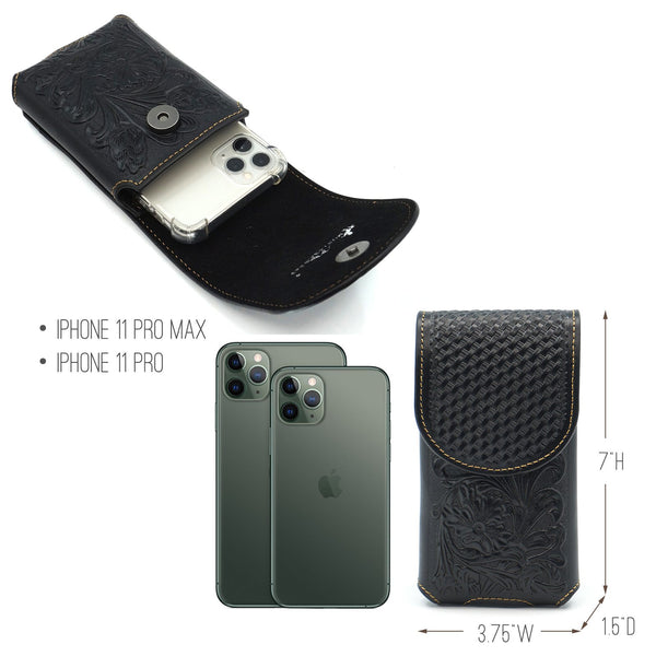 RLP-009 Montana West Genuine Leather Belt Loop Holster Cell Phone Case - Montana West World