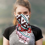 BDN02  Montana West Tribal Pattern Print Bandana - Assorted Colors (12 PCS) - Montana West World