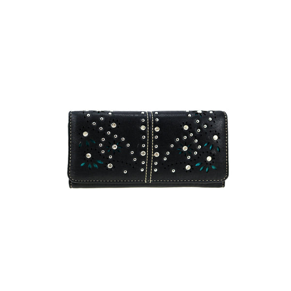 CLBW2-2716  American Bling Studded Wallet/Wristlet - Montana West World
