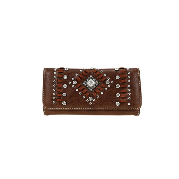 CLBW2-2821  American Bling Coffee Concho Wallet/Wristlet - Montana West World