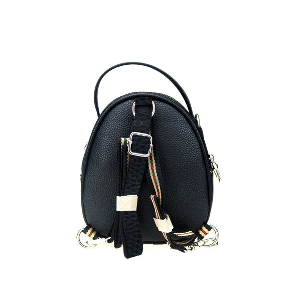 CLF-112  American Bling Coffee Feather Mini Backpack, Crossbody/Shoulder Bag