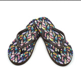 FF-8004 Montana West Feather Collection Women's Flip Flops By Size