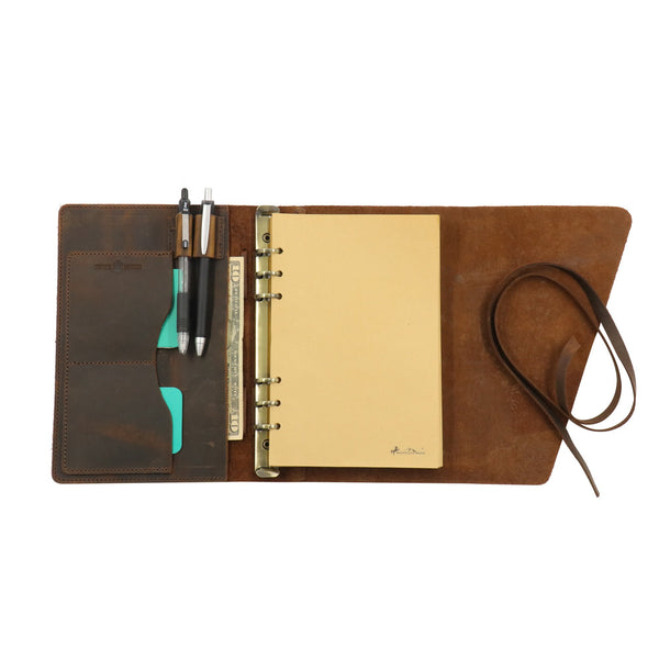 "MWL- 036 Montana West Western Vintage Genuine Leather Journal Notebook Handheld Size 6.5"" x 9.25"" (120 Sheets/240 Pages) - Montana West World"