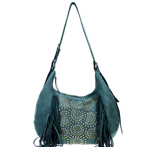 LEA-6048 Delila 100% Genuine Leather Collection Hobo - Montana West World