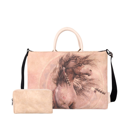 Horse Print Waterproof Laptop Bag - Montana West World