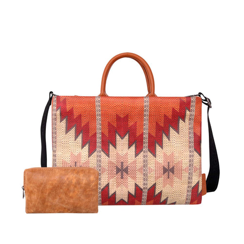 Aztec Pattern Print Waterproof Laptop Bag - Montana West World