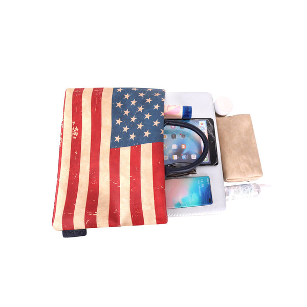 US Flag Print Waterproof Laptop Bag - Montana West World