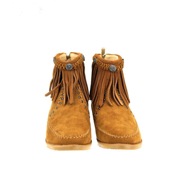 MBT-1906  Montana West Western Booties - Brown By Size - Montana West World