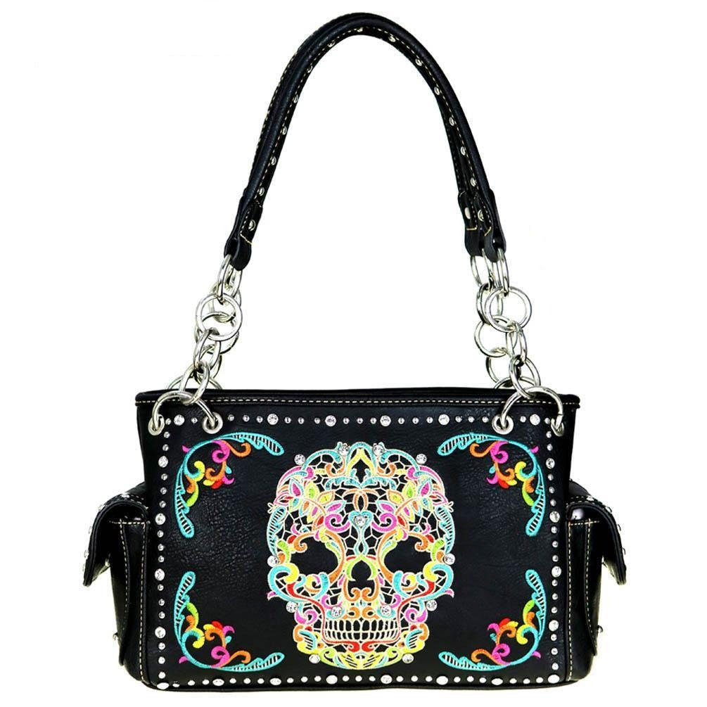 Montana West Sugar Skull Concealed Carry Satchel