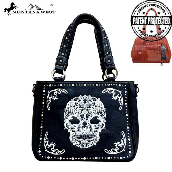 Sugar Skull O Concealed Carry Tote - Montana West World