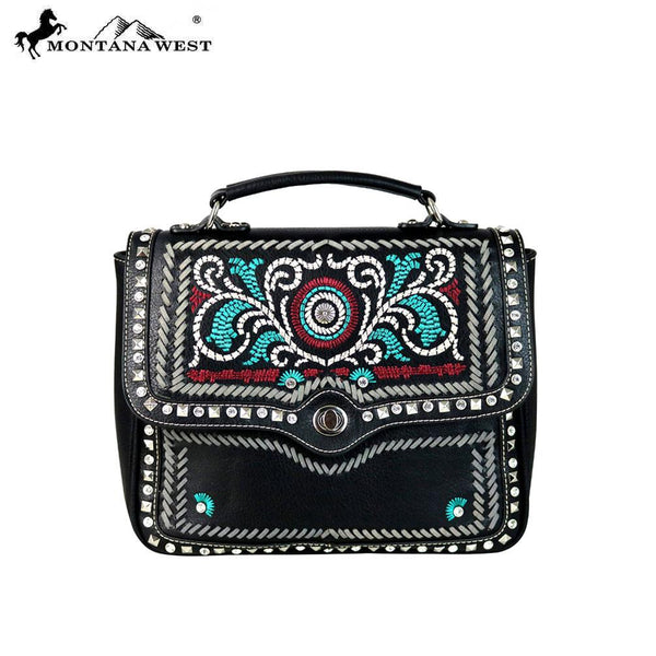 MW594-8101 Montana West Embroidered Collection Top Handle Satchel - Montana West World