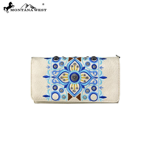 MW705-C018 Montana West Embroidered Collection Wallet/Crossbody - Montana West World
