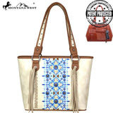 Lobelia Embroidered Concealed Carry Tote Bag - Montana West World